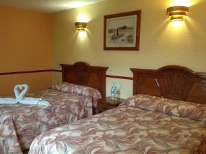 Cama o camas de una habitación en Hotel Real del Valle