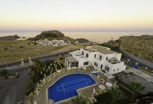 A view of the pool at Lindos View Hotel or nearby