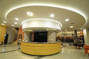 The lobby or reception area at Maritina Hotel