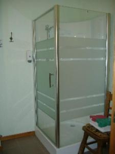 Een badkamer bij Hostellerie la Sapiniere