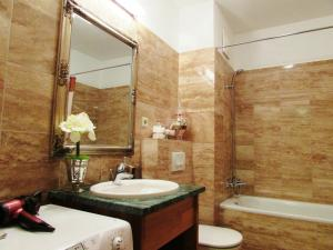 A bathroom at Colours Apartments Budapest
