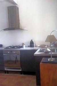 A kitchen or kitchenette at Gites de l olivier au Mas au Coeur de la Provence &SPA