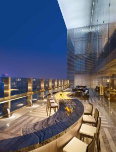 A balcony or terrace at The Azure Qiantang, a Luxury Collection Hotel, Hangzhou