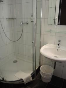 A bathroom at Hotel Fürstenhof