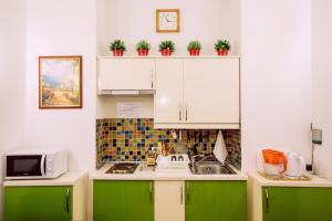 Кухня или мини-кухня в Апарт-Отель Пушкарев
