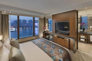 A television and/or entertainment center at Mandarin Oriental Pudong, Shanghai