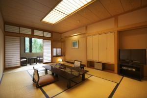 A seating area at Hodakaso Yamano Hotel