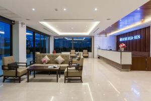 The lobby or reception area at Riche Hua Hin Hotel
