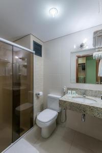 Um banheiro em Hotel Vale Verde