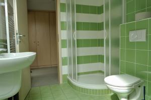 Koupelna v ubytování Hostel Lípa - Továrna