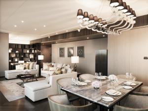 A restaurant or other place to eat at The Okura Prestige Bangkok