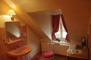 A bathroom at Domaine De Chatenay - Le Mans