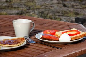 Breakfast options available to guests at Hlid Bed and Breakfast