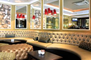 The lounge or bar area at The New Tulbagh Hotel
