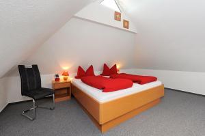 Ein Zimmer in der Unterkunft Pension Burggaststätte Heyken