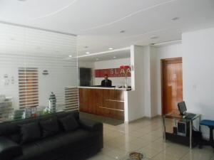The lobby or reception area at Hotel Slaass