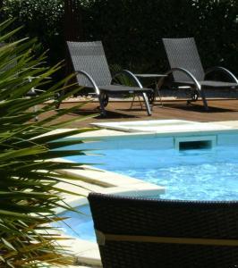 Het zwembad bij of vlak bij Domaine a l'Aise