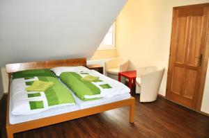 Кровать или кровати в номере Hotel Na Velké Hospodě