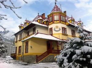 Penzión Jesenský during the winter
