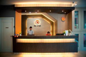 Staff members at Big Orange Hotel Sungai Petani