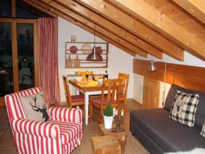 Ein Sitzbereich in der Unterkunft Casa Claudia