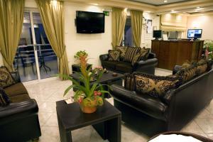 Χώρος καθιστικού στο Ξενοδοχείο Αρχοντική