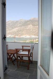 A balcony or terrace at Myrto Hotel