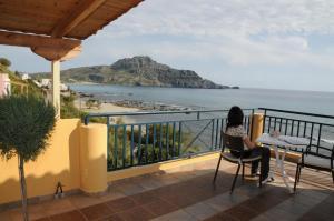 A balcony or terrace at Thalassa House Apartments