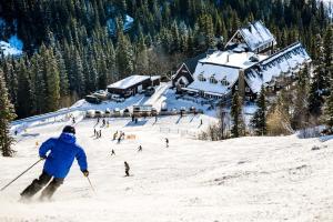 Hotell Fjällgården Ski-In Ski-Out during the winter