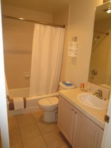 A bathroom at Carousel Beach Inn