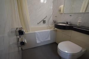 A bathroom at Ryokan Katsutaro