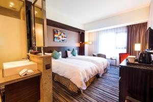 星享道酒店 房間的床