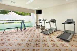 The fitness centre and/or fitness facilities at Bali Nusa Dua Hotel