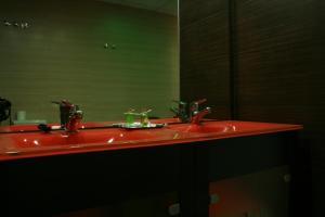 A bathroom at Noriega