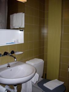 Koupelna v ubytování Restaurant Hotel Stossplatz