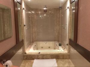 A bathroom at Hotel El Cazar