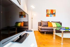 Ein Sitzbereich in der Unterkunft Apartments Bensberg