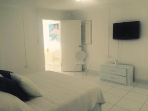 A television and/or entertainment center at White Cloud Apartment