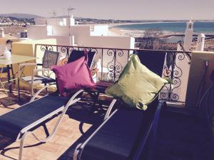 Een balkon of terras bij Casa Paula Apartments