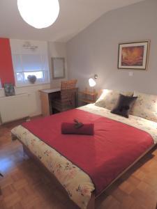 Posteľ alebo postele v izbe v ubytovaní Apartment Alvarium