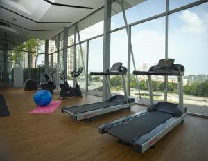 The fitness centre and/or fitness facilities at The Signature Hotel & Serviced Suites Kuala Lumpur