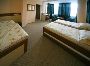 A bed or beds in a room at Hotel Gorna Banya
