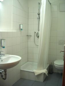 Ein Badezimmer in der Unterkunft Boardingroom