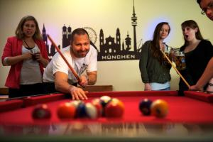 A pool table at THE 4YOU Hostel & Hotel Munich
