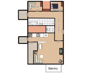 Planimetria di Modern Apartment Dlouhá