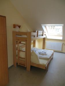 A bunk bed or bunk beds in a room at Jugendherberge Kappeln