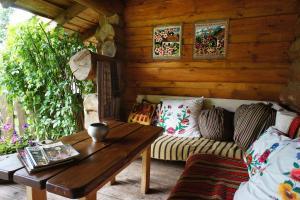 Гостиная зона в Агроусадьба Аколица