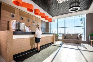 The lobby or reception area at SKYEXPO Hotel