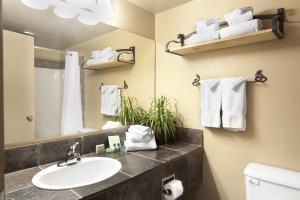 A bathroom at Tonquin Inn