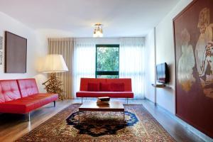אזור ישיבה ב-Diaghilev LOFT live art hotel
